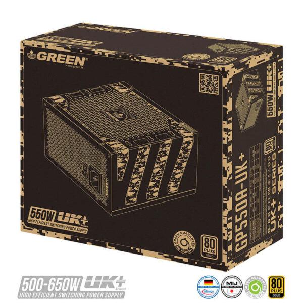 منبع تغذيه کامپيوتر گرین GP550A-UK Plus