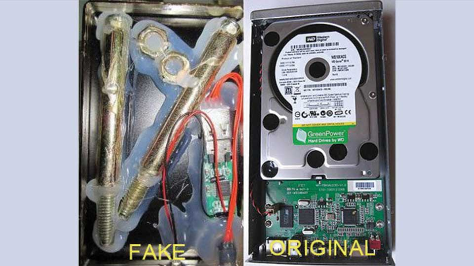 شناسایی هارد دیسک اصلی و تقلبی