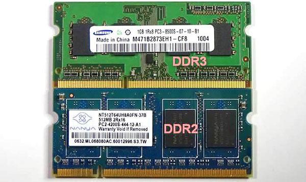رم DDR2 و DDR3 در لپ تاپ