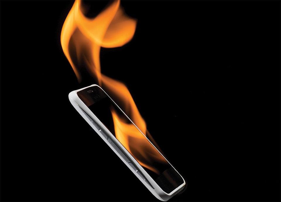 گرما بیش از حد تلفن همراه