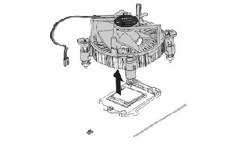 مرحله دوم باز و بسته کردن فن سی پی یو