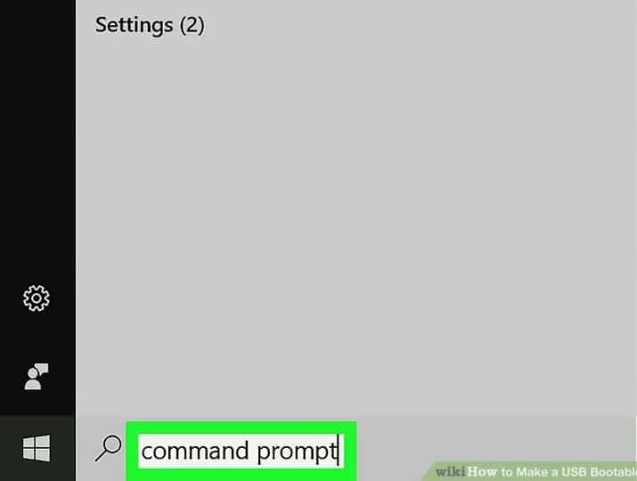 command prompt را تایپ کنید