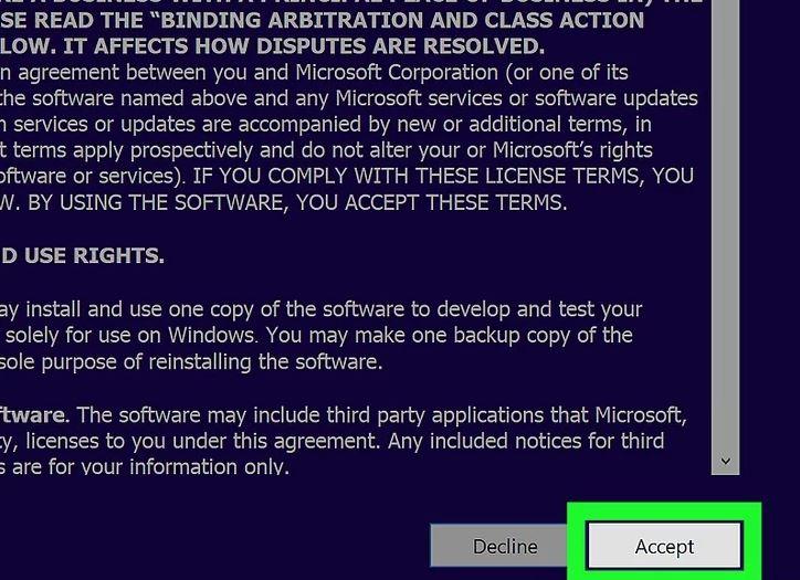مرحله 6 استفاده از ابزار نصب ویندوز 10