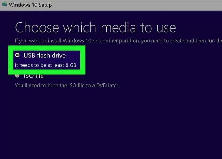مرحله 10 استفاده از ابزار نصب ویندوز 10