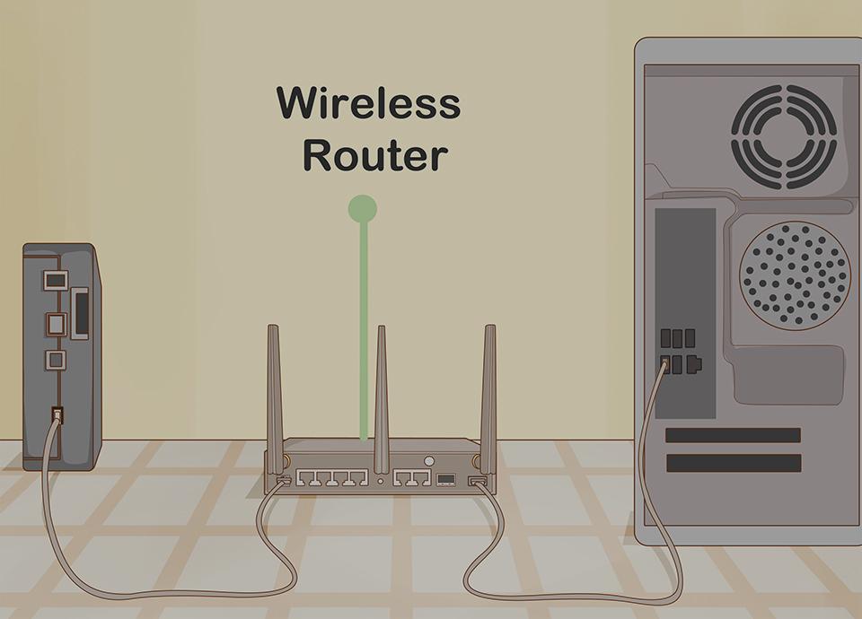 اتصال مودم به دستگاه