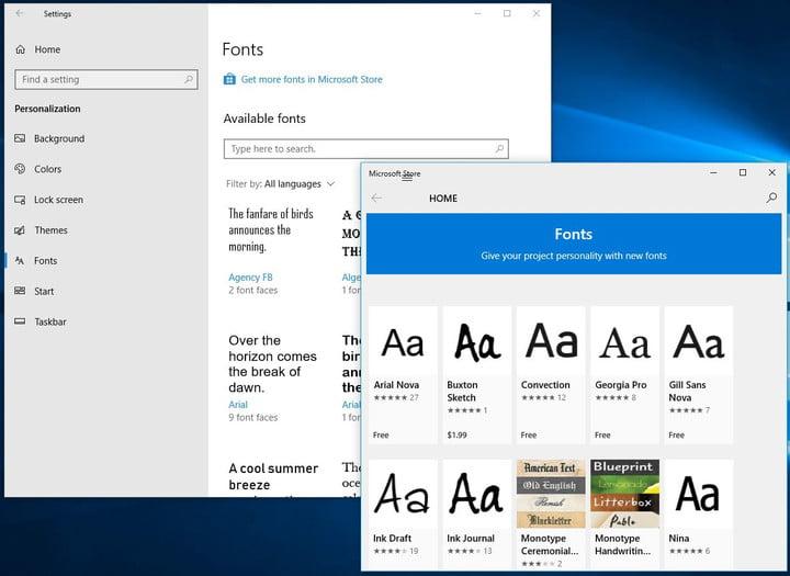 نحوه نصب فونت ها از طریق Microsoft Store