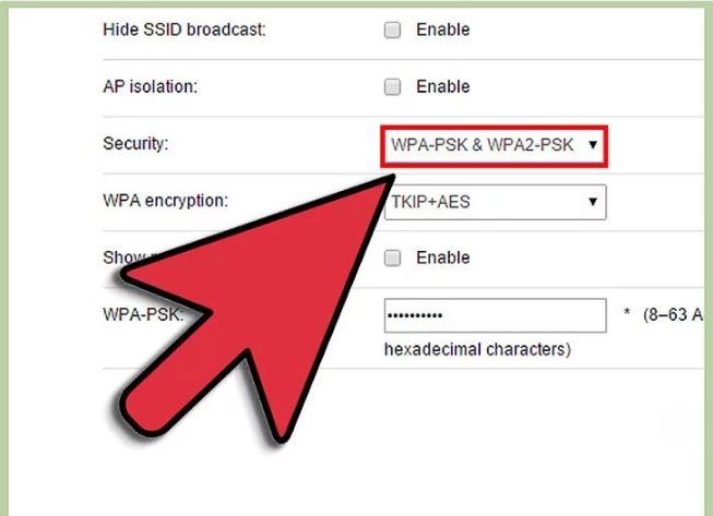 مرحله 3 اضافه کردن رمز ورود  به WiFi