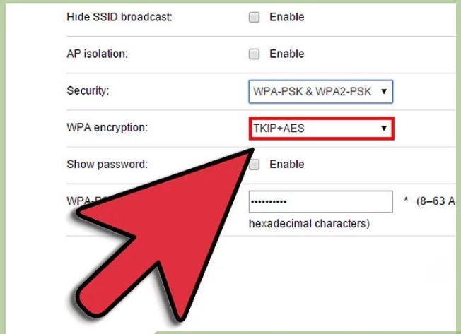 مرحله 4 اضافه کردن رمز ورود  به WiFi