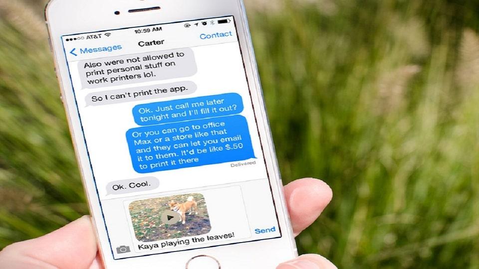 بازیابی پیام متنی در آیفون