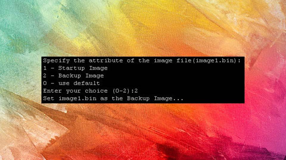 مرحله 4 روش فرم ویر را از طریق منوی bootutil بارگیری کنید.