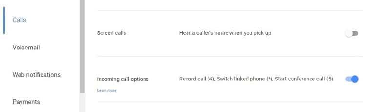 نحوه ضبط تماس ورودی با استفاده از Google Voice