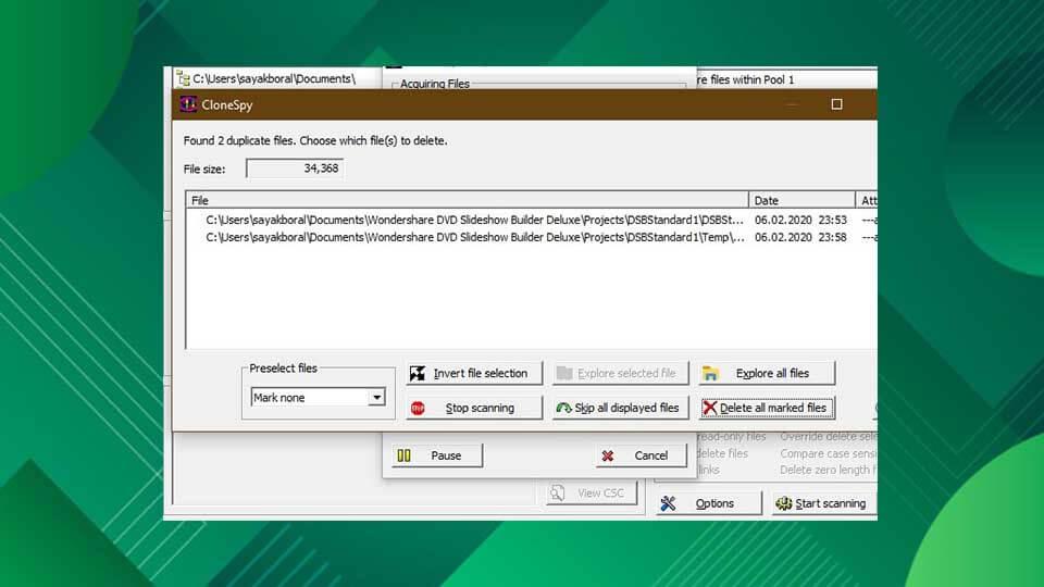 حذف فایل های تکراری در ویندوز