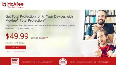 آنتی ویروس McAfee Security & Power Booster Free