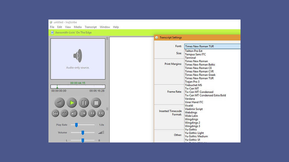 نرم افزار تبدیل InqScribe
