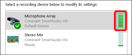 تصویر 11 میکروفن ویندوز 10