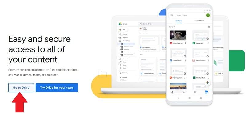 ورود به گوگل درایو
