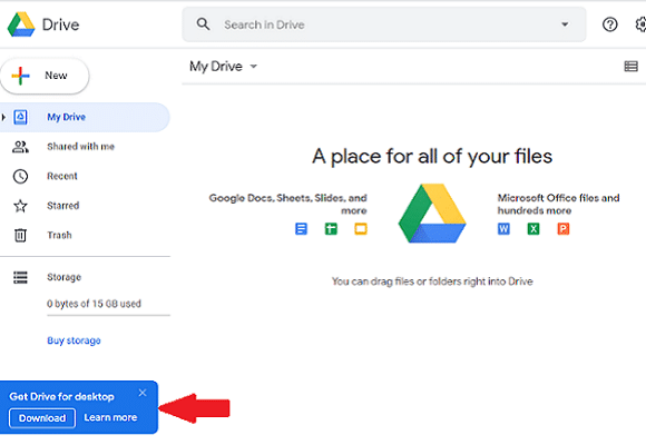 دانلود گوگل درایو برای کامپیوتر