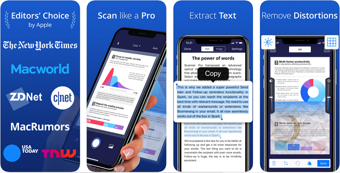 Scanner Pro یک اپلیکیشن آیفون
