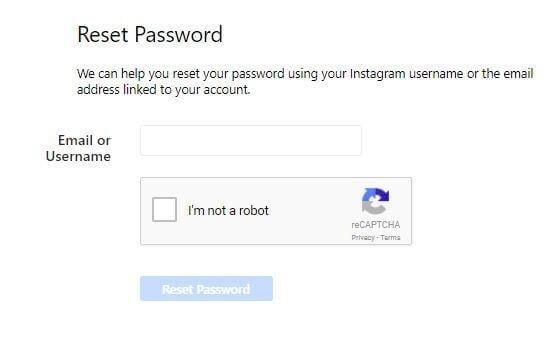 نحوه تنظیم رمز عبور اینستاگرام