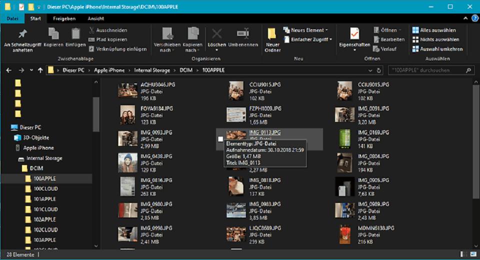 عکس های آیفون را با استفاده از Windows Explorer به کامپیوترانتقال دهید : گام چهارم