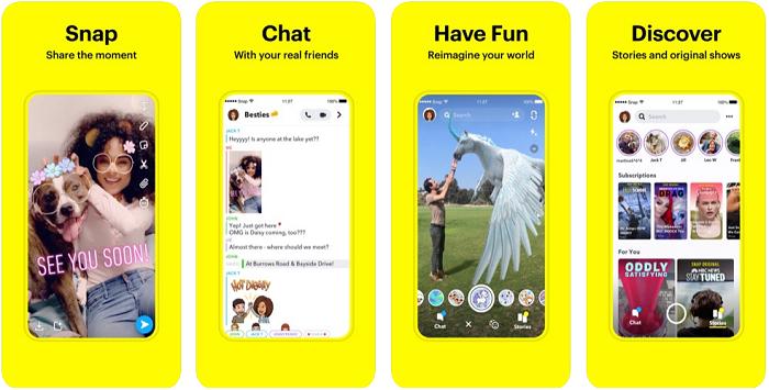 Snapchat یک اپلیکیشن آیفون