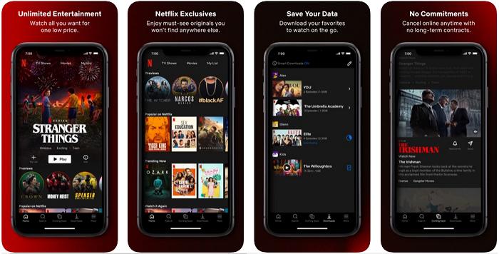 Netflix یک اپلیکیشن آیفون