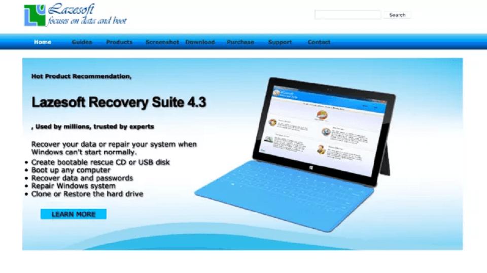 بازیابی پسورد : Lazesoft Recover My Password Home