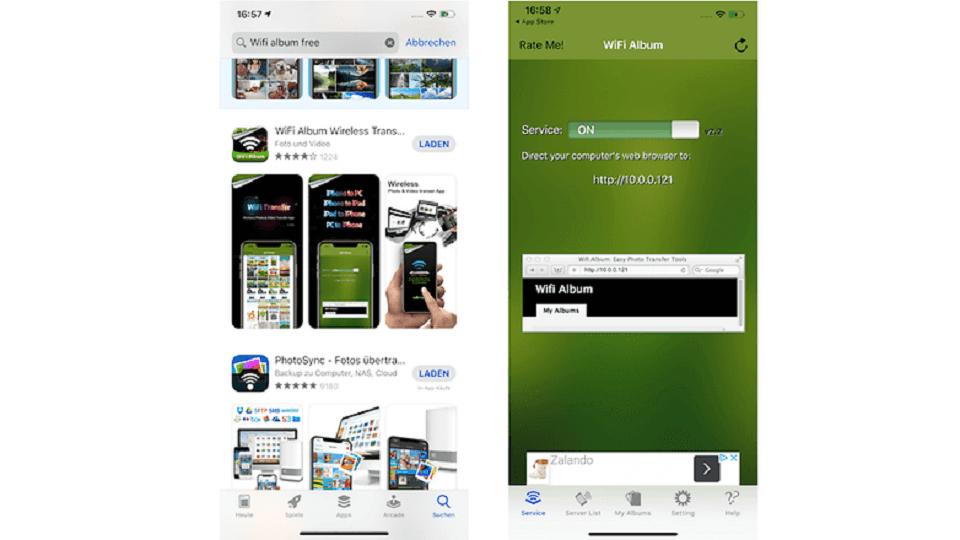 عکسهای iPhone را از طریق برنامه ای در مرورگر خود مشاهده و دانلود کنید : گام اول