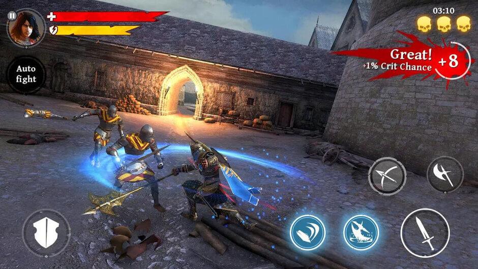 پرحجم ترین بازی های اندروید و ای او اس  Iron Blade: Medieval Legends RPG