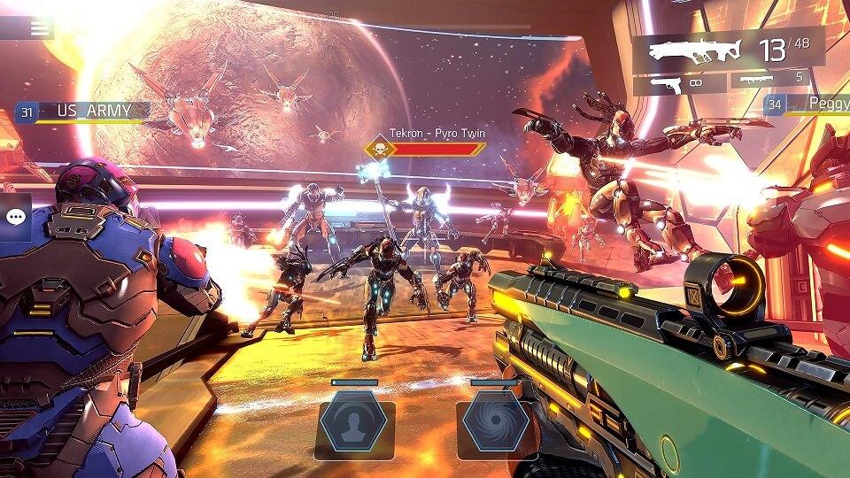 پرحجم ترین بازی های اندروید و ای او اس : Shadowgun Legends