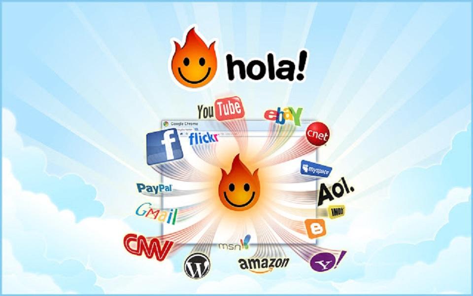 افزونه های گوگل : hola