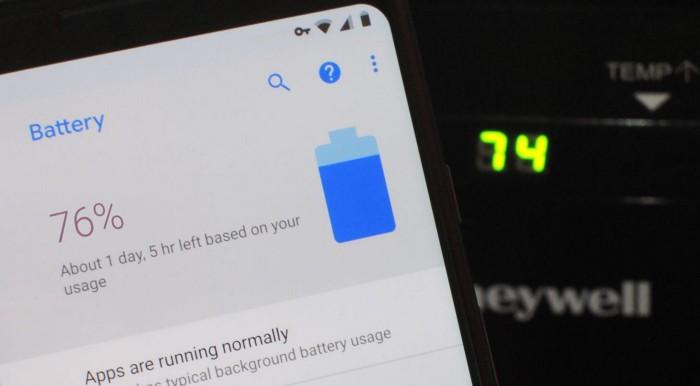درصد شارژ باتری