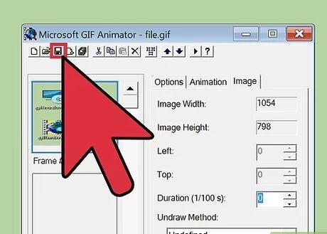 تبدیل فیلم به گیف با نرم افزار Microsoft GIF Animator