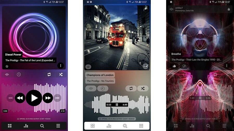 10تا از بهترین برنامه موزیک پلیر اندروید :  Poweramp Music Player