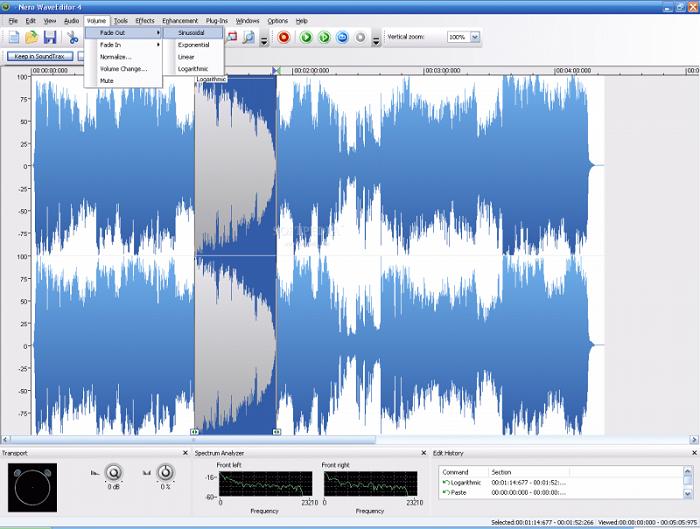 نرم افزار ویرایش صدا ویندوز Nero Wave Editor