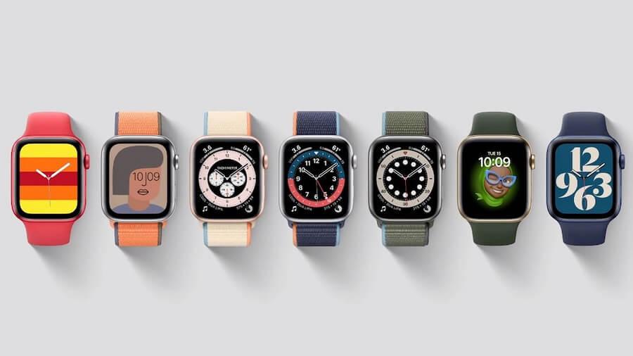طراحی و نمایش اپل واچ 6 نسبت به اپل واچ 5