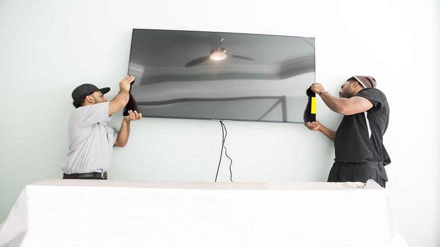 نصب تلویزیون به دیوار