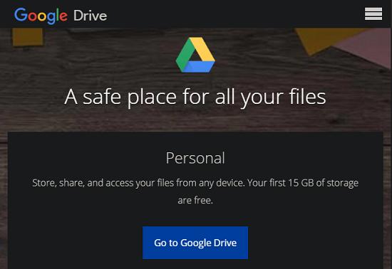 فضای ذخیره سازی ابری Google Drive