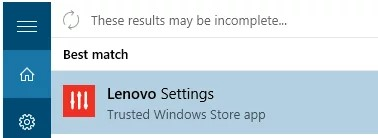 Lenovo Settings