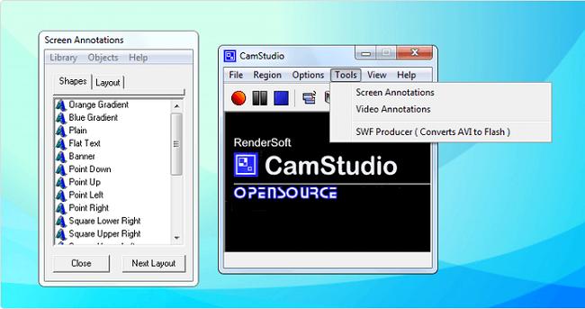 نرم افزار فیلمبرداری از صفحه نمایش کامپیوتر CamStudio