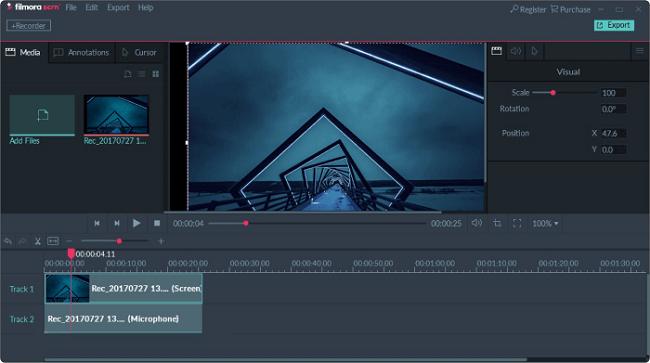 نرم افزار فیلمبرداری از صفحه نمایش کامپیوتر  Filmora Scrn