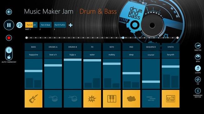 نرم افزار ویرایش صدا آیفون Music Maker JAM