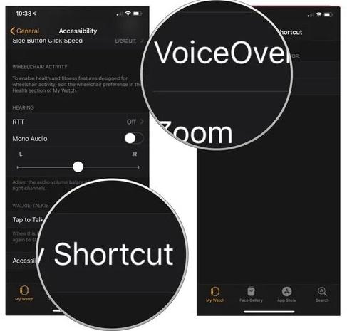 دسترسی سریع به Zoom و VoiceOver