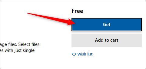 زدن گزینه Get برای شروع دانلود برنامه PDF to JPEG
