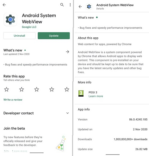 Android System WebView چیست؟