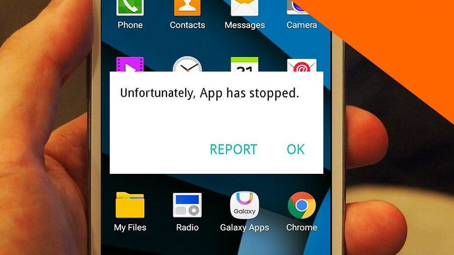Unfortunately app has stopped در Android