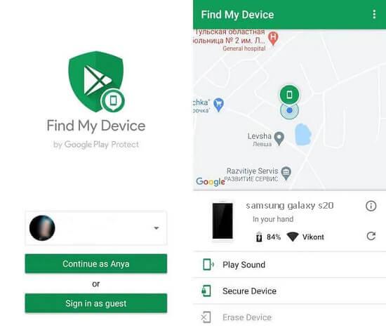 نحوه استفاده از Find My Device
