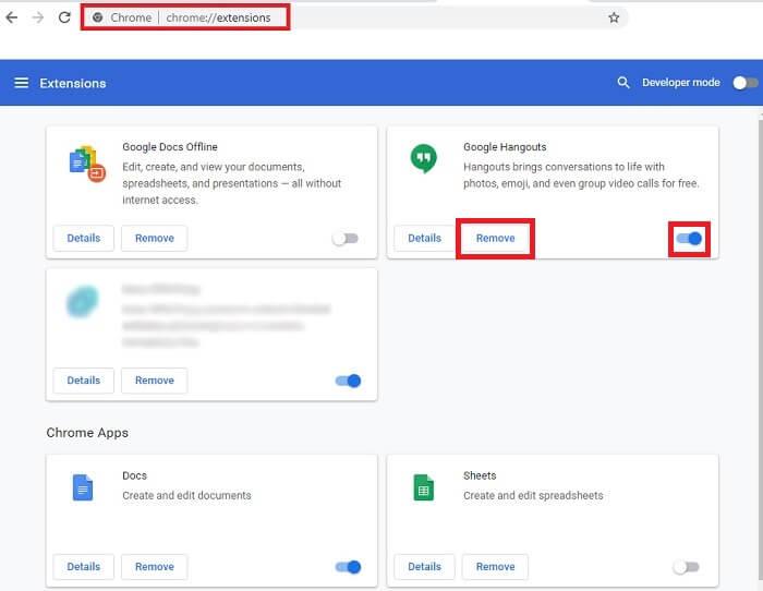 حذف برنامه های افزودنی غیرضروری برای افزایش سرعت گوگل کروم