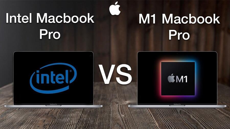 مقایسه intel و M1 اپل