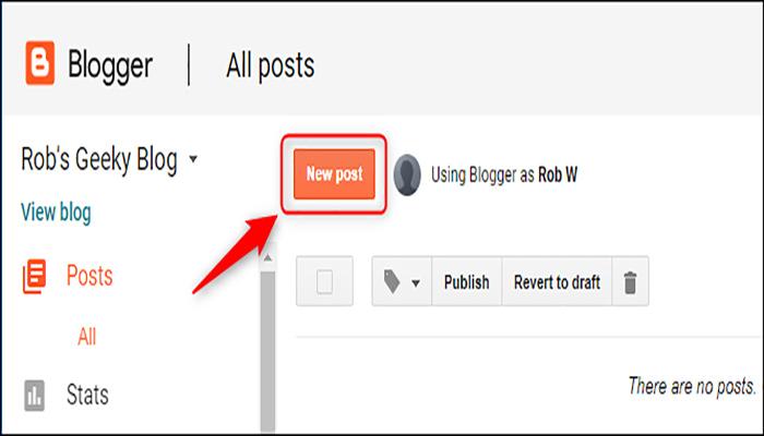 """روی گزینه """"New Post"""" کلیک کنید."""